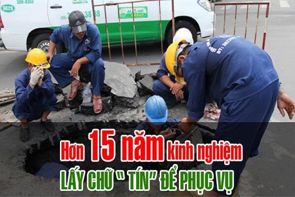 Thông tắc cống tại Khu đô thị An Sinh Hoàng Quốc Việt